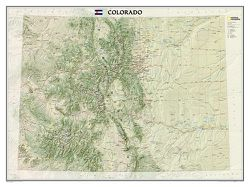 Colorado Wall Map by National Geographic