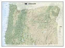 Oregon Wall Map by National Geographic