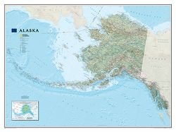 Alaska Wall Map by National Geographic