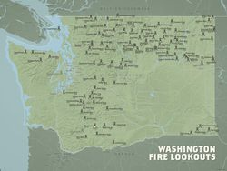 Fire Lookouts Of Washington State Best Maps Ever