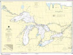 Nautical Chart 14500 - Great Lakes