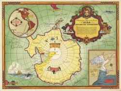 Antique Map of Antarctica 1934