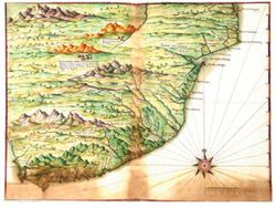 Antique Map of South Africa 1630