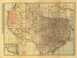 Antique Map of Texas 1900