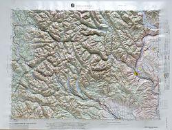 Wenatchee Raised Relief Map
