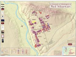 Red Mountain, Washington Wine Region Map