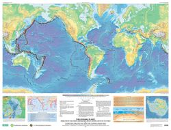 This Dynamic Planet - World Tectonics Map by USGS