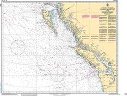 Canadian Nautical Chart 3000 - Juan de Fuca to Dixon Entrance
