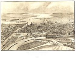 Antique Map of Providence, RI 1886