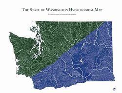 Washington Hydrological Map