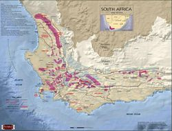 South Africa Wine Region Map
