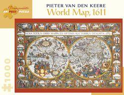 Antique World Map Puzzle.Antique World Map 1611 Van Der Keere Jigsaw Puzzle 1000 Piece