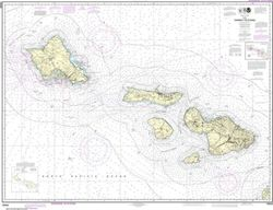 Nautical Chart 19340 - Hawai'i to O'ahu