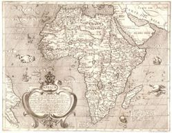 Antique Map of Africa 1600's