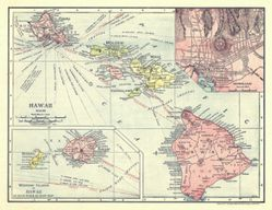 Antique Map of Hawaii 1912