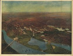 Antique Map of Washington DC 1916