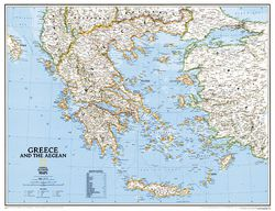 Greece Wall Map by National Geographic