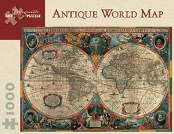 Antique World Map Puzzle, 1000 piece