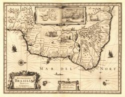 Antique Map of Brazil 1630