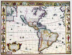 Antique Map of Western Hemisphere 1626