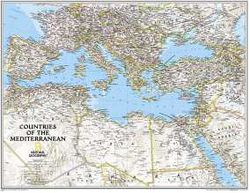 Mediterranean Map by National Geographic