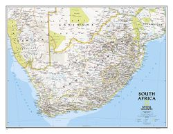 South Africa Wall Map by National Geographic