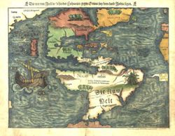Antique Map of the Americas 1550