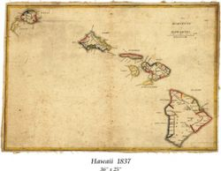Antique Map of Hawaii 1837