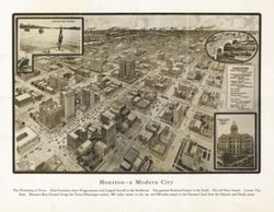 Antique Map of Houston, TX 1912