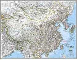 China Wall Map by National Geographic