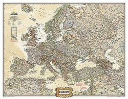Europe Executive Wall Map by National Geographic