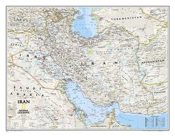 Iran Wall Map by National Geographic