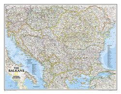 Balkans Map - Balkan Peninsula Map - Wall Maps Europe