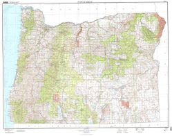 Oregon Topographical Wall Map Topographic Map Of Oregon
