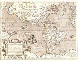 Antique Map of the Americas 1600's