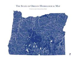 Oregon Hydrological Map