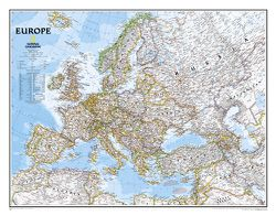 Europe Wall Map by National Geographic