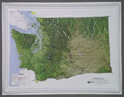 Washington State Raised Relief Map