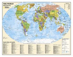 Political World Map for Kids by National Geographic