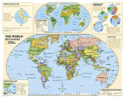 Beginner's Political World Map for Kids by National Geographic