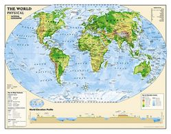 Physical World Map for Kids by National Geographic