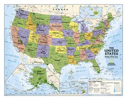 Political US Map for Kids by National Geographic