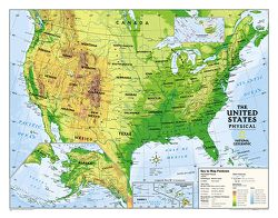 Physical US Map for Kids by National Geographic