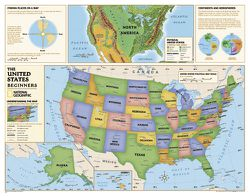 Beginner's US Map for Kids by National Geographic
