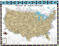 Portrait of Indian Heritage: United States Map - Color