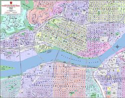 Portland Downtown Business District Map - Neighborhood Shading
