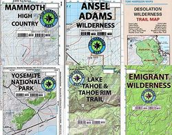 Hiking Maps of California by Tom Harrison - Choose from the List!