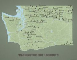 Washington State Fire Lookouts Map by Best Maps Ever