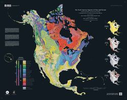 Tapestry of Time and Terrain: North America Geologic Map by USGS