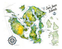 San Juan Islands Watercolor by Elizabeth Person